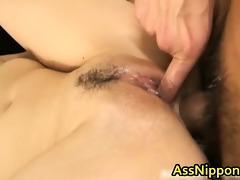 cute oriental engulfing and receives drilled