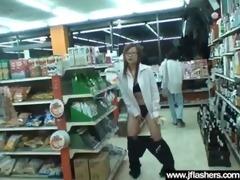 flasher sexy japanese girl receive gangbanged