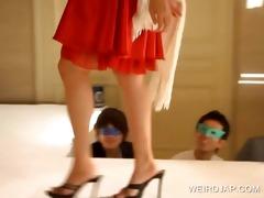 oriental models posing hot on stage