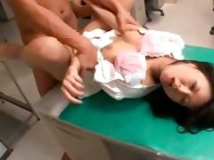 hot oriental honey receives her wet crack