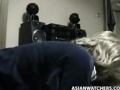 korean lad bonks golden-haired stewardess