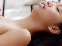 korean gal teasing by the ocean