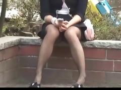 spying upskirt oriental chick by voyeur troc