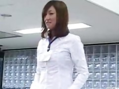 recent japanese male employees play rock paper