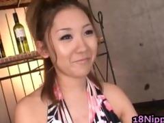 oriental legal age teenager hottie receives warm