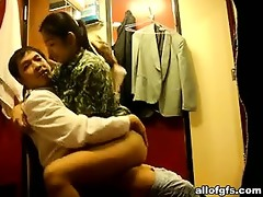 oriental pair fucking on the chair