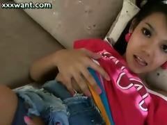 legal age teenager t-girl rubbing her shlong
