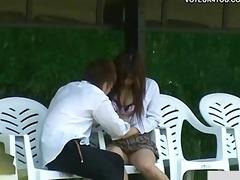 sex public bench outdoor exposure