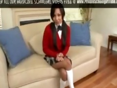 cute legal age teenager school beauty in pigtails