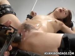 naughty oriental bitch in thraldom receives her