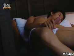 thai homosexual lad chew solo for 6th of july