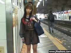 slut japanese strip in public and receive drilled
