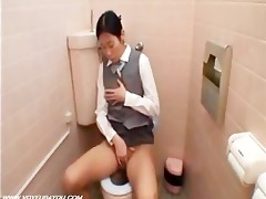 lustful gal throne room masturbates