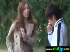 asians girls acquire group-fucked in public