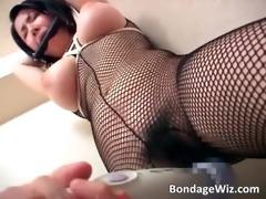 big tit oriental doxy is bound whilst sex-toy