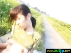 asians cuties receive team-fucked in wild places
