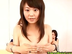 oriental legal age teenager gals disrobe in the