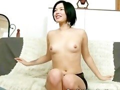 exotic 13 year old babe takes a obese schlong in