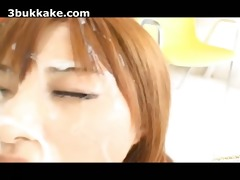 japanese bukkake facual cumshots compilation