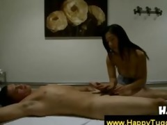 oriental doxy gives a tugjob and a orall-service