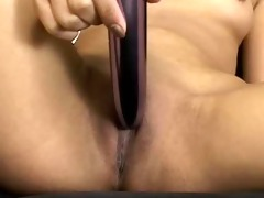 sexy oriental nyomi cigar smokin and dildoing