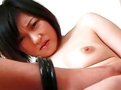 sexy oriental hottie loving her cock!