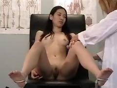 Japanese girl gyno exam