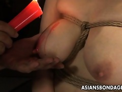 breasty japanese sweetheart in sexy wax