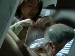 aged asian desires juvenile pussy on his backseat