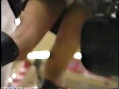 miniskirt subway station pursuit pants