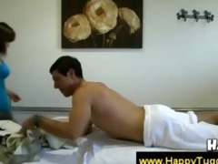 oriental goes s garb during massage