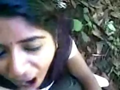 indian cutie engulfing pecker and eat cum