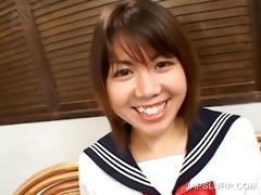 japanese schoolgirl rubbing titties