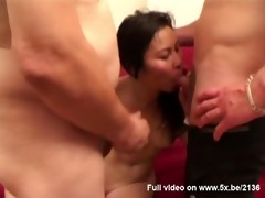 lane, an oriental hottie group-fucked
