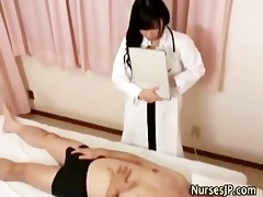 woman oriental doctor visiting patient