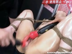 hawt tied up japanese girl given orgasms from sex