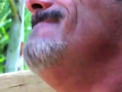 shaggy powerful dad pleases oriental twink
