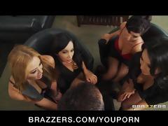 four sexy breasty oriental sluts in hawt fuckfest