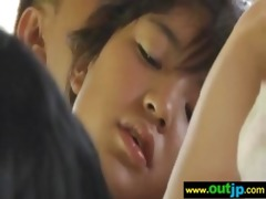 asians japanese girls receive nailed in public