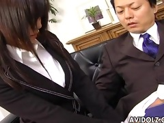 secretary doxy satomi maeno blows cock uncensored