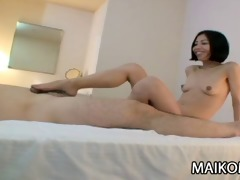 japanese cougar makoto abe teasing his mans weenie