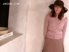 playful oriental legal age teenager receives pink