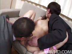 horny businessmen have mafuyu hanasaki tied in