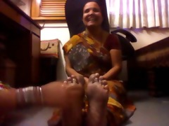 aged indian lady tickled