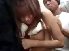 oriental groped in the elevator