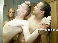 blonde and gay fellow gets his dong sucked in a