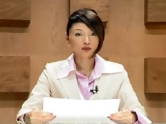 facual cumshots on a pretty oriental announcer