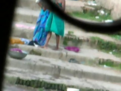indian aunty bathroom in river 11