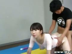 pliant oriental ballerina slit gangbanged