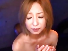 oriental beauty with handcuffs getting her slit